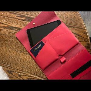 Mark and graham red tech carryall